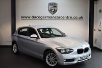USED 2014 63 BMW 1 SERIES 2.0 118D SE 5DR 141 BHP + 1 OWNER FROM NEW + BLUETOOTH + DAB RADIO + RAIN SENSORS + PARKING SENSORS + 17 INCH ALLOY WHEELS +