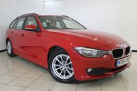 USED 2014 64 BMW 3 SERIES 2.0 320D EFFICIENTDYNAMICS BUSINESS TOURING 5DR 161 BHP LEATHER SEATS + CLIMATE CONTROL + SAT NAVIGATION + BLUETOOTH + CRUISE CONTROL + 16 INCH ALLOY WHEELS