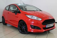 USED 2016 65 FORD FIESTA 1.0 ZETEC S RED EDITION 3DR 139 BHP AIR CONDITIONING + BLUETOOTH + MULTI FUNCTION WHEEL + AUXILIARY PORT + 16 INCH ALLOY WHEELS