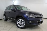 USED 2014 14 VOLKSWAGEN TIGUAN 2.0 MATCH TDI BLUEMOTION TECHNOLOGY 4MOTION 5DR 139 BHP FULL VW SERVICE HISTORY + SAT NAVIGATION + PARKING SENSOR + HEATED SEATS + BLUETOOTH + MULTI FUNCTION WHEEL + CLIMATE CONTROL + 17 INCH ALLOY WHEELS