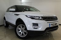 USED 2012 12 LAND ROVER RANGE ROVER EVOQUE 2.2 SD4 PURE TECH 5DR 190 BHP FULL SERVICE HISTORY + HEATED LEATHER SEATS + SAT NAVIGATION + PARKING SENSOR + BLUETOOTH + CRUISE CONTROL + CLIMATE CONTROL + MULTI FUNCTION WHEEL + 18 INCH ALLOY WHEELS