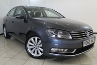 USED 2013 63 VOLKSWAGEN PASSAT 2.0 HIGHLINE TDI BLUEMOTION TECHNOLOGY 4DR 139 BHP FULL SERVICE HISTORY + SAT NAVIGATION + PARKING SENSOR + BLUETOOTH + CRUISE CONTROL + MULTI FUNCTION WHEEL + 17 INCH ALLOY WHEELS
