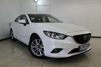 USED 2014 63 MAZDA 6 2.2 D SE 4DR 148 BHP FULL SERVICE HISTORY + AIR CONDITIONING + BLUETOOTH + CRUISE CONTROL + MULTI FUNCTION WHEEL + AUXILIARY PORT + 17 INCH ALLOY WHEELS