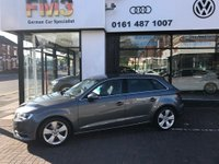 USED 2014 14 AUDI A3 2.0 TDI Sport 5dr S Tronic Automatic S Tronic Metallic Monsoon Grey