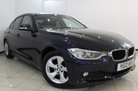 USED 2012 12 BMW 3 SERIES 2.0 320D EFFICIENTDYNAMICS 4DR 161 BHP HEATED LEATHER SEATS + PRO SATELLITE NAVIGATION + BLUETOOTH + MULTI FUNCTION WHEEL + CRUISE CONTROL + PARKING SENSORS + DAB RADIO + 16 INCH ALLOY WHEELS
