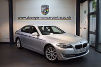 USED 2013 62 BMW 5 SERIES 2.0 520D SE 4DR AUTO 181 BHP + FULL SERVICE HISTORY + FULL LEATHER INTERIOR + PRO SATELLITE NAVIGATION + BLUETOOTH + HEATED SPORT SEATS + CRUISE CONTROL + PARKING SENSORS + 18 INCH ALLOY WHEELS +