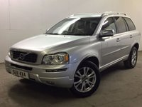 USED 2013 13 VOLVO XC90 2.4 D5 SE LUX AWD 5d AUTO 200 BHP BODYKIT 7 SEATER SAT NAV LEATHER FSH NO FINANCE REPAYMENTS FOR 2 MONTHS STC. 4WD. 7 SEATER. BODYKIT. SATELLITE NAVIGATION. STUNNING SILVER WITH FULL BLACK LEATHER TRIM. ELECTRIC MEMORY HEATED SEATS. CRUISE CONTROL. 18 INCH ALLOYS. COLOUR CODED TRIMS. PRIVACY GLASS. PARKING SENSORS. BLUETOOTH PREP. CLIMATE CONTROL. R/CD PLAYER. MFSW. TOWBAR. MOT 07/18. ONE PREV OWNER. FULL SERVICE HISTORY. FCA FINANCE APPROVED DEALER. TEL 01937 849492.