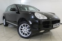 USED 2006 56 PORSCHE CAYENNE 3.2 V6 TIPTRONIC 5DR AUTOMATIC 250 BHP HEATED LEATHER SEATS + CLIMATE CONTROL + PARKING SENSOR + MULTI FUNCTION WHEEL + RADIO/CD + 17 INCH ALLOY WHEELS