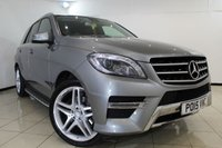 USED 2015 15 MERCEDES-BENZ M CLASS 2.1 ML250 BLUETEC AMG LINE PREMIUM 5DR AUTOMATIC 204 BHP FULL MERCEDES SERVICE HISTORY + HEATED LEATHER SEATS + SAT NAVIGATION + BLUETOOTH + PARKING SENSOR + CRUISE CONTROL + MULTI FUNCTION WHEEL + 18 INCH ALLOY WHEELS
