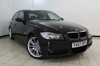 USED 2008 57 BMW 3 SERIES 2.0 320I M SPORT 4DR 168 BHP SERVICE HISTORY + CLIMATE CONTROL + PARKING SENSOR + CRUISE CONTROL + MULTI FUNCTION WHEEL  + 17 INCH ALLOY WHEELS