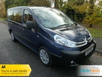 USED 2012 12 CITROEN DISPATCH 2.0 MINIBUS L2H1 HDI SX 5d 126 BHP FANTASTIC ONE OWNER LONG WHEELBASE DISPATCH MINIBUS WITH NINE SEATS, AIR CONDITIONING, VELOUR TRIM AND CITROEN SERVICE HISTORY.