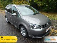 USED 2011 11 VOLKSWAGEN TOURAN 1.6 SE TDI 5d 106 BHP VERY NICE SEVEN SEAT VOLKSWAGEN TOURAN DIESEL WITH ONE PREVIOUS OWNER, AIR CONDITIONING, ALLOY WHEELS AND VOLKSWAGEN SERVICE HISTORY.