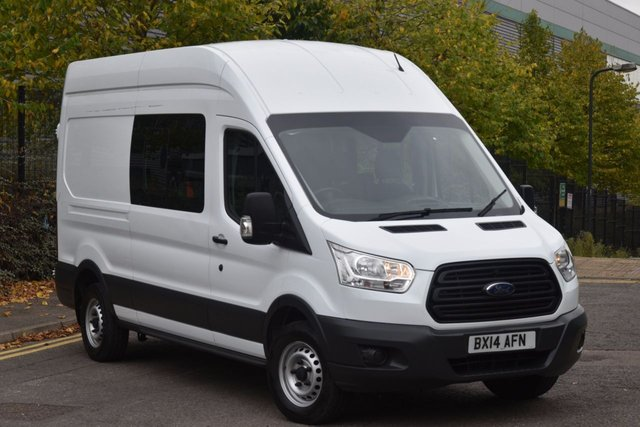 2014 14 FORD TRANSIT 2.2 350 H/R P/V 5d 99 BHP LWB L3H3 9 SEATER EURO 5 COMBI DIESEL PANEL MANUAL VAN ONE OWNER FULL S/H SPARE KEY
