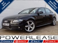 USED 2011 60 AUDI A4 3.0 TDI QUATTRO S LINE BLACK EDITION 4d AUTO 237 BHP BLACK FRIDAY WEEKEND EVENT, HEATED SEATS SAT NAV CRUISE