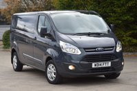 USED 2014 14 FORD TRANSIT CUSTOM 2.2 290 LIMITED LR E-TECH P/V 5d 124 BHP LWB AIR CON DIESEL MANUAL PANEL VAN ONE OWNER S/H SPARE KEY