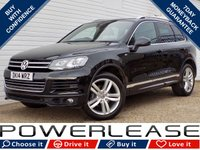 USED 2014 14 VOLKSWAGEN TOUAREG 3.0 V6 R-LINE TDI BLUEMOTION TECHNOLOGY 5d AUTO 242 BHP PANROOF HEATEDSEATS DAB CRUISE