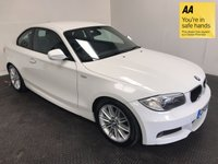 USED 2013 13 BMW 1 SERIES 2.0 118D M SPORT 2d AUTO 141 BHP FSH-1 OWNER-BLUETOOTH-ISOFIX-ALLOYS-A/C