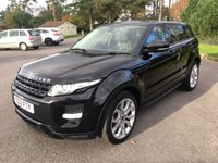 USED 2012 12 LAND ROVER RANGE ROVER EVOQUE 2.2 SD4 DYNAMIC 5d AUTO 190 BHP AUTOMATIC DYNAMIC WITH FSH IN BLACK WITH FULL BLACK LEATHER SAT NAV REVERSING CAMERA