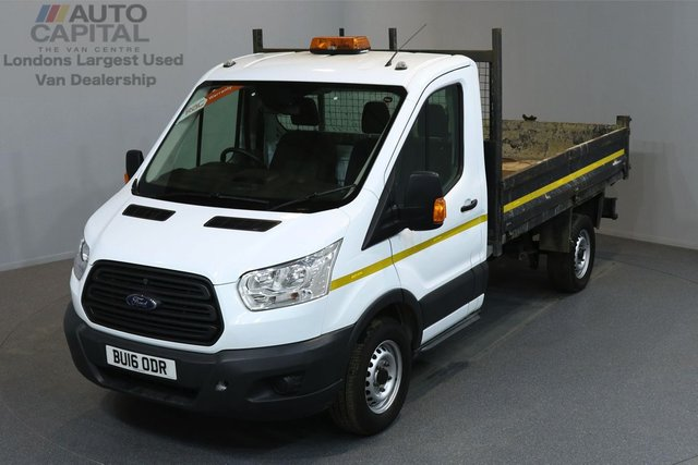 2016 16 FORD TRANSIT 2.2 350 L2 MEDIUM WHEELBASE 124 BHP TIPPER ONE OWNER FROM NEW, MOT TILL 23/03/2019