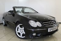 USED 2009 59 MERCEDES-BENZ CLK 1.8 CLK200 KOMPRESSOR SPORT 2DR 181 BHP MERCEDES SERVICE HISTORY + LEATHER SEATS + CLIMATE CONTROL + CRUISE CONTROL + MULTI FUNCTION WHEEL + RADIO/CD + 18 INCH ALLOY WHEELS