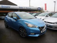 USED 2017 17 NISSAN MICRA 0.9 IG-T ACENTA 5d 89 BHP NEED FINANCE? WE STRIVE FOR 94% ACCEPTANCE