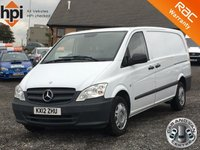 2012 MERCEDES-BENZ VITO 2.1 110 CDI LONG LWB £6790.00