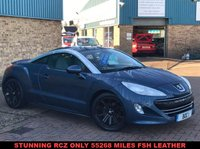 USED 2011 60 PEUGEOT RCZ 1.6 THP GT 2d 156 BHP Stylish RCZ 1.6THP GT with only 55268 miles FSH Full Heated Leather with Electric adjustment and memory