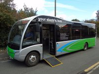 USED 2012 12 OPTARE SOLO M890 AUTO 180 BHP FULLY ELECTRIC 29 SEATER SERVICE DISABLED BUS +TAX EXEMPT+FULLY ELECTRIC