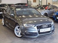 USED 2014 14 AUDI A3 2.0 TDI S LINE 4d 148 BHP PANORAMIC SUNROOF+1 OWNER+FSH
