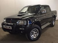 USED 2004 54 MITSUBISHI L200 2.5 TD 4WD LWB WARRIOR DCB 1d 114 BHP LEATHER SIDE STEPS FSH NO VAT NO VAT. 4WD. STUNNING BLACK MET WITH FULL BLACK LEATHER WARRIOR TRIM. SIDE STEPS. CARGO LINING. AIR CON. 16 INCH ALLOYS. COLOUR CODED TRIMS. PAS. MOT 09/18. ONE PREV OWNER. SERVICE HISTORY. TEL 01937 849492