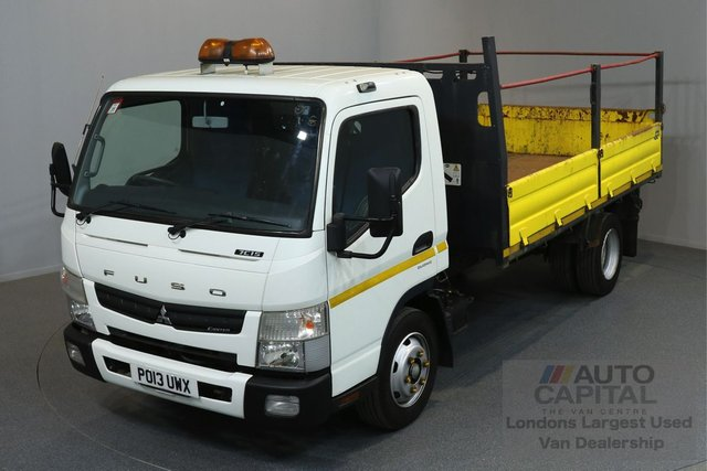 2013 13 MITSUBISHI FUSO CANTER 3.0 7C15 34 7500KG 2d 148 BHP RWD AUTOMATIC GEARBOX ECO DRIVE TWIN WHEEL TIPPER  ONE OWNER FROM NEW