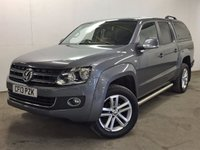 USED 2013 13 VOLKSWAGEN AMAROK 2.0 DC TDI HIGHLINE 4MOTION 1d 178 BHP SAT NAV HARDTOP CANOPY LEATHER ONE OWNER NO FINANCE REPAYMENTS FOR 2 MONTHS STC. COMMERCIAL (£16400+3280VAT). 4WD. HARDTOP CANOPY. SATELLITE NAVIGATION. STUNNING GREY MET WITH FULL BLACK LEATHER TRIM. HEATED SEATS. CRUISE CONTROL. AIR CON. 19 INCH ALLOYS. COLOUR CODED TRIMS. PRIVACY GLASS. PARKING SENSORS. SIDE BARS. CARGO LINING. BLUETOOTH PREP. PAS. R/CD PLAYER. MFSW. TOWBAR. MOT 08/18. ONE OWNER FROM NEW. SERVICE HISTORY. FCA FINANCE APPROVED DEALER. TEL 01937 849492