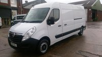 USED 2013 63 VAUXHALL MOVANO 2.3 F3500 L3H2 CDTI 1d 98 BHP 1 OWNER F/S/H  2 KEYS \ FREE 12 MONTHS WARRANTY COVER ///