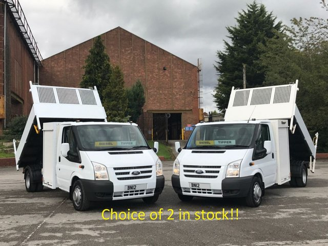 2012 12 FORD TRANSIT 2.2 125 350 LWB Tipper+ Pod Toolbox Free UK Delivery,