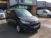 USED 2014 14 FORD TRANSIT CONNECT 1.6 200 LIMITED P/V 1d 114 BHP FULLY LOADED, FULL FORD SERVICE HISTORY, 6 MONTH WARRANTY & FINANCE ARRANGED. FSH, A/C, E/W, Alloys, Radio/CD, Bluetooth, Parking Sensors, cruise control, auto headlights, Drivers airbag, Factory fitted bulk head, Side loading door, Ply-lined. Silver, Very Good Condition, 1 Owner, remote Central Locking, Drivers Airbag, CD Player/FM Radio, Steering Column Radio Control, Side Loading Door, Wood Lined, Barn Rear Doors