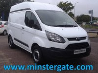 USED 2015 65 FORD TRANSIT CUSTOM 2.2 290 L1H2  P/V 99 BHP * 38000 MILES * FORD WARRANTY UNTIL SEPT 2018, 1 OWNER, FULL HISTORY