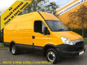2012 IVECO-FORD DAILY 3.0Hpi 50C15 146 Mwb High Roof van Ex Council Authority Twin Wheels 5200kgs £8950.00