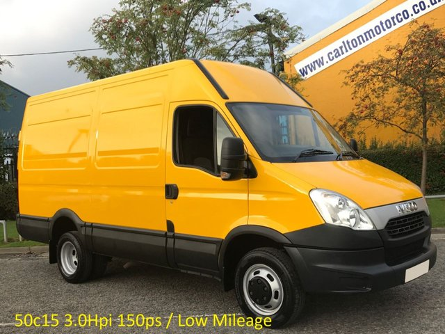 2012 61 IVECO-FORD DAILY 3.0Hpi 50C15 146 Mwb High Roof van Ex Council Authority Twin Wheels 5200kgs