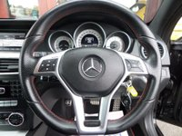 USED 2013 63 MERCEDES-BENZ C CLASS 2.1 C220 CDI BLUEEFFICIENCY AMG SPORT PLUS 2d AUTO COUPE **FSH** ** F/S/H * 1/2 BLACK LEATHER WITH RED STITCHING * XENONS **