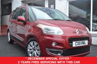 USED 2011 11 CITROEN C3 PICASSO 1.6 PICASSO EXCLUSIVE HDI 5d 90 BHP £30 ROAD TAX+GREAT MPG+BLUETOOTH