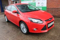 USED 2013 13 FORD FOCUS 1.6 ZETEC TDCI 5d 113 BHP +APPEARANCE PACK +LOW Tax.