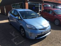 USED 2013 13 TOYOTA PRIUS 1.8 PLUG-IN HYBRID 5d AUTO 99 BHP ONLY 63000 MILES IN MET BLUE APPROVED CARS ARE PLEASED TO OFFER THIS TOYOTA PRIUS 1.8 PLUG-IN HYBRID 5 DOOR AUTO 99 BHP WITH ONLY 63000 MILES IN MET BLUE AN IDEAL TAXI OR HYBRID FAMILY CAR WITH A FULL MAIN DEALER SERVICE HISTORY.