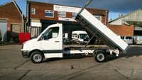 USED 2012 62 VOLKSWAGEN CRAFTER 2.0 CR35 TDI 1d 107 BHP MWB TIPPER 1 OWNER F/S/H X COUNCIL \ FREE 12 MONTHS WARRANTY COVER ///