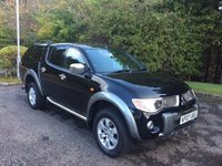 2007 MITSUBISHI L200 2.5 DI-D DIAMOND NO VAT 4DR PICK UP AUTO 168 BHP £7999.00