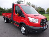USED 2015 65 FORD TRANSIT 350 L4 Long Wheelbase Dropside 2.2Tdci 125Ps Only 19000 Miles Ford Warranty Remaining
