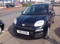 USED 2012 12 FIAT PANDA 1.2 POP 5d 69 BHP Low milage, low road tax, economical, great value.