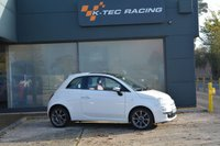 "USED 2011 11 FIAT 500 0.9 LOUNGE 3d 85 BHP JUST 8,400 MILES, ONE OWNER, FULL RED LEATHER, 16"" ABARTH ALLOY WHEELS, SUNROOF, AIR CON"