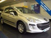 USED 2009 59 PEUGEOT 308 1.6 S HDI 5d 107 BHP FULL SERVICE HISTORY , 9 STAMPS, AIR CON,