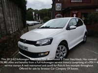 2013 VOLKSWAGEN POLO 1.2 BLUEMOTION TDI 5d 74 BHP £5995.00