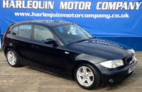 USED 2006 56 BMW 1 SERIES 2.0 120D SPORT 5d 161 BHP UP ON THE MILES BUT MUST BE SEEN 2006 BMW 120 TURBO DIESEL SPORT 5 DOOR MANUAL METALLIC BLACK AIR CON ALLOYS SERVICE HISTORY